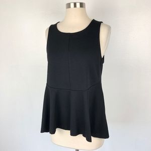 Anthropologie Tops - Deletta | Anthropologie Black Peplum Tank Top